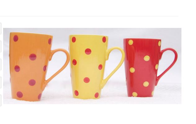 Set of 3 Ceramic Mugs