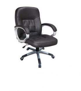 Medium back leather chair - HA 1178A