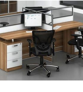 4 way straight workstation - D20-2404