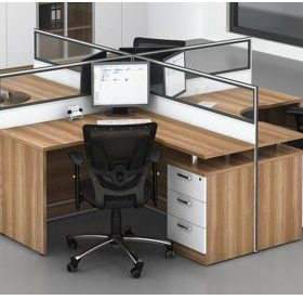 Curved four way work station D20-2824