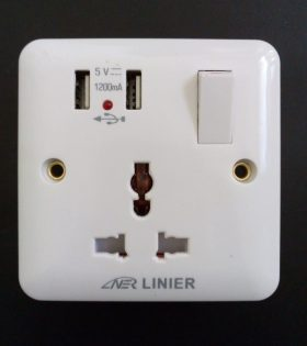 Socket with USB Port Outlet Bridgepoint Energy Nairobi Kenya