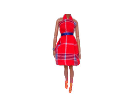 Braided Doll in Maasai Dress 3
