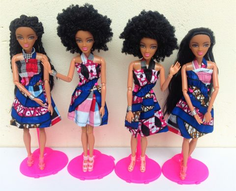 Swahili Princess doll in pink & Blue – Afro 2