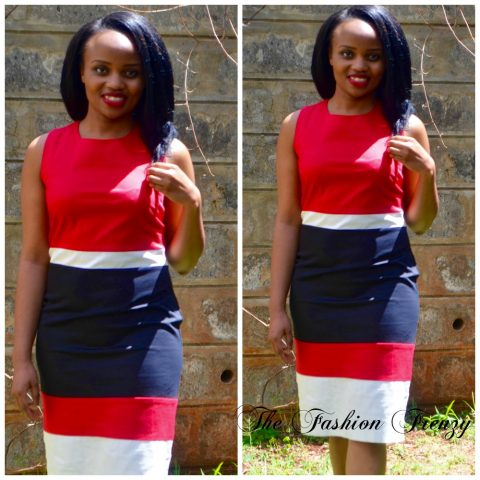 The Fashion Frenzy Red and White official dress 1