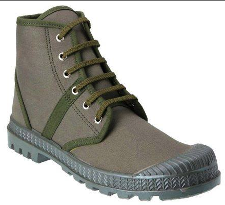 Jungle Green Canvas Boots