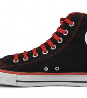 Converse Shoes - Black and Red