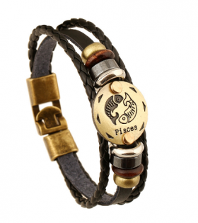 Constellations Bracelets Fashion Jewellery Leather Bracelets Men
