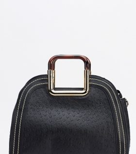 Contrasts Stitched Square Handle Handbag