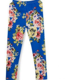 Flowered Girls Trousers