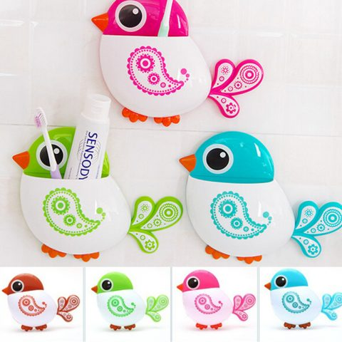 Lovely Bird Storage Organizer with suction cups 1