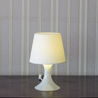 Bedside Table white lamp
